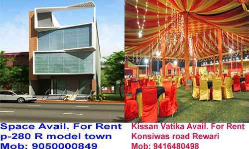 space for rent in rewari
