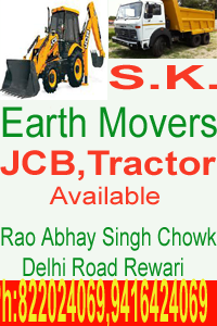 Earth movers in rewari